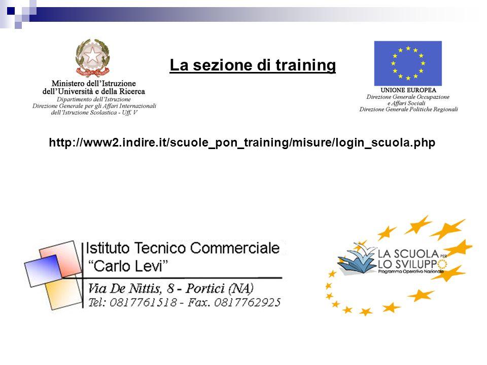 http://www2.indire.it/scuole_pon_training/misure/login_scuola.php La sezione di training