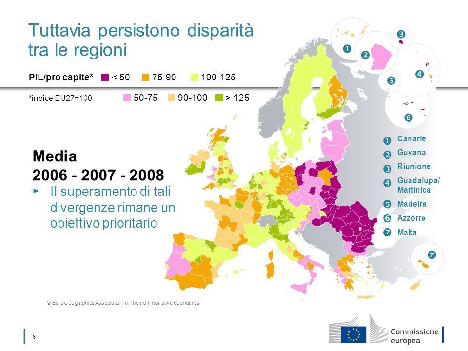 17 Fondo di coesione Fornisce sostegno agli Stati membri con RNL/pro capite < 90% della media dell UE27 Investimenti nell ambiente Adattamento ai cambiamenti climatici e prevenzione dei rischi Servizi idrici e di smaltimento dei rifiuti Biodiversità incluso il ricorso a infrastrutture verdi Ambiente urbano Economia a basse emissioni di carbonio Investimenti nei trasporti Reti transeuropee dei trasporti (RTE-T) Sistemi di trasporto a basse emissioni di carbonio e trasporto urbano