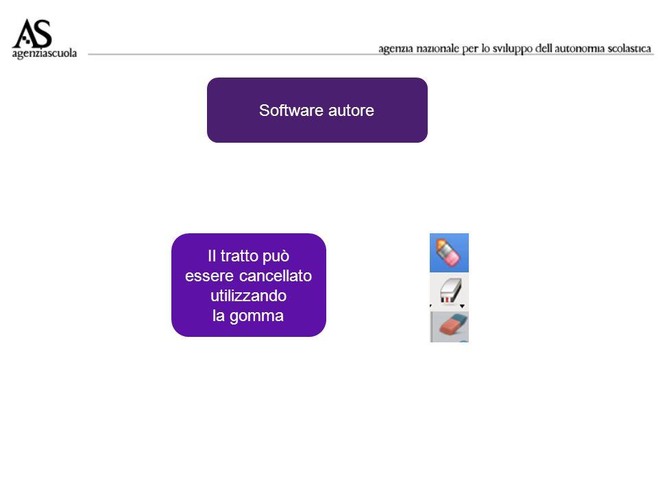 Software autore Il tratto può essere cancellato utilizzando la gomma
