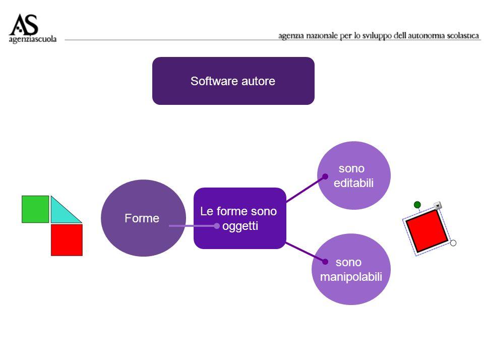 sono editabili Software autore Forme sono manipolabili Le forme sono oggetti
