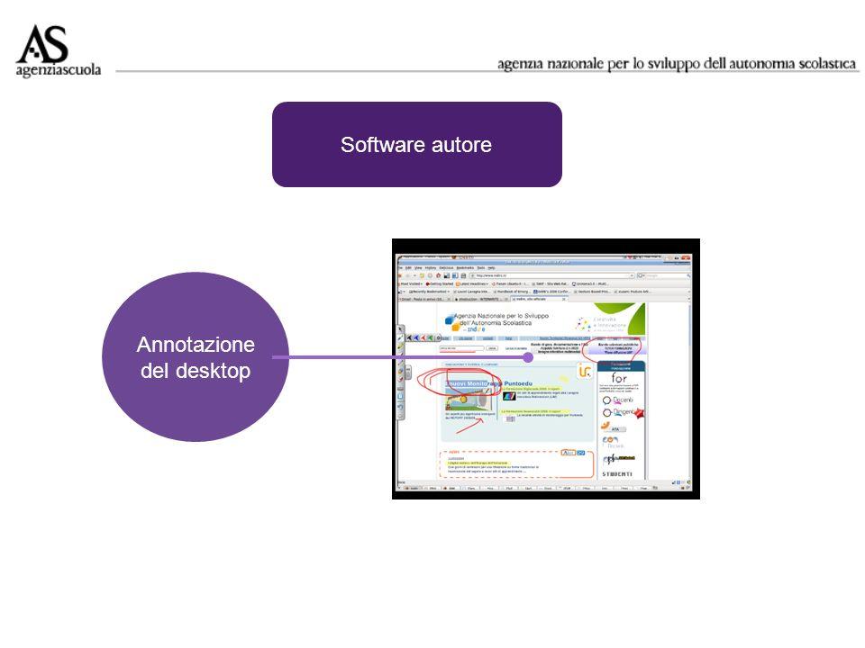 Annotazione del desktop Software autore