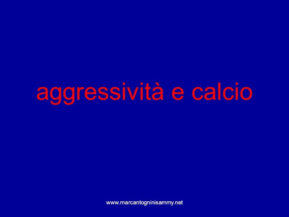www.marcantogninisammy.net aggressività e calcio