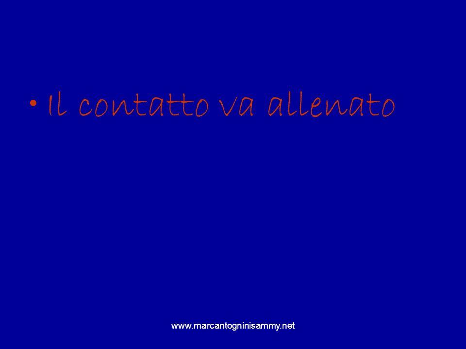 www.marcantogninisammy.net Il contatto va allenato