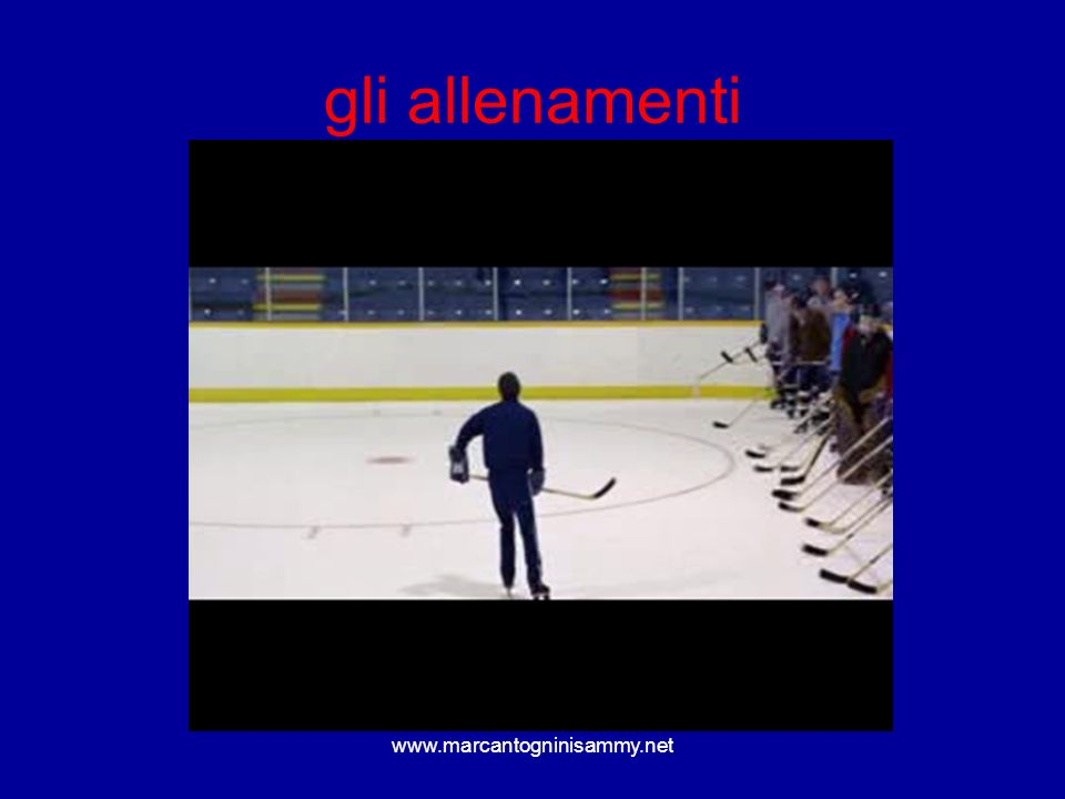 www.marcantogninisammy.net gli allenamenti