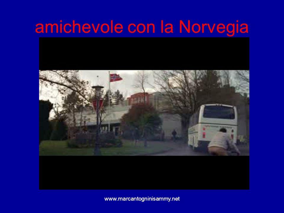 www.marcantogninisammy.net amichevole con la Norvegia