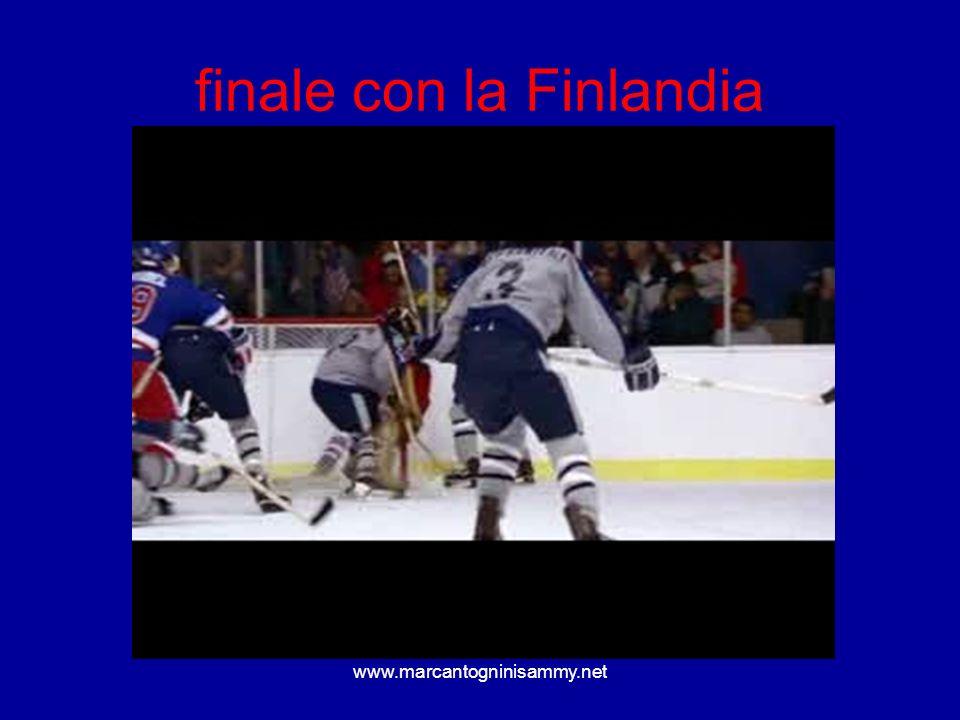 www.marcantogninisammy.net finale con la Finlandia