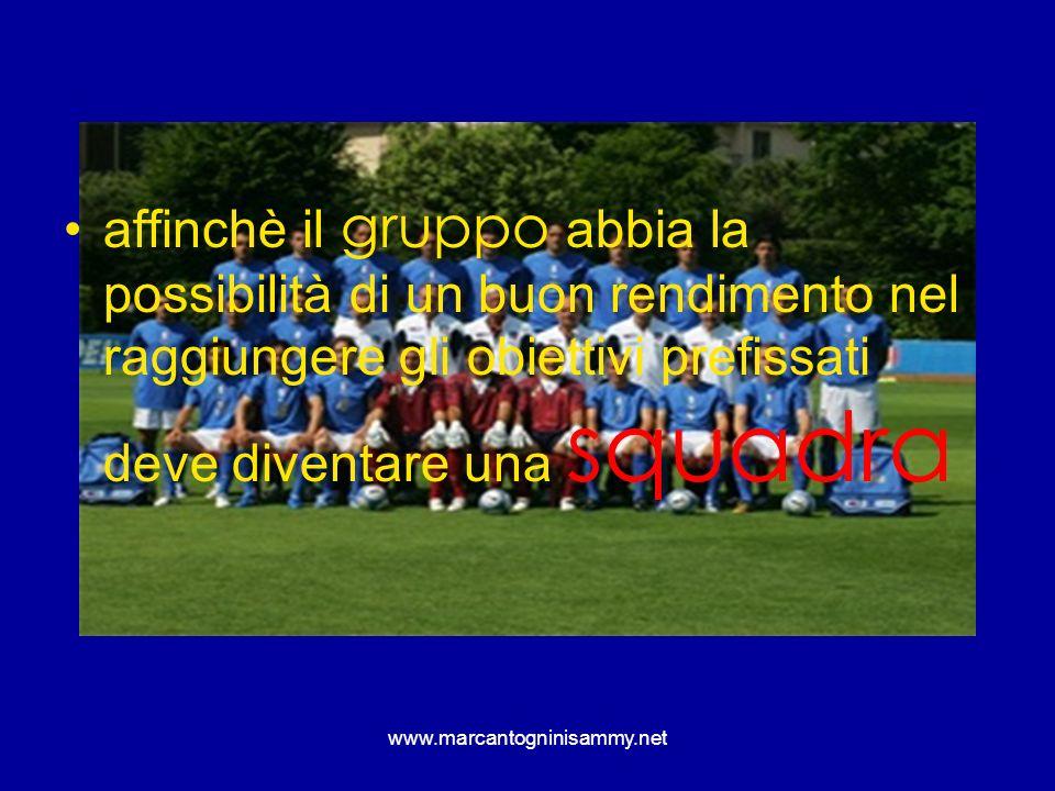 www.marcantogninisammy.net affinchè il gruppo abbia la possibilità di un buon rendimento nel raggiungere gli obiettivi prefissati deve diventare una s