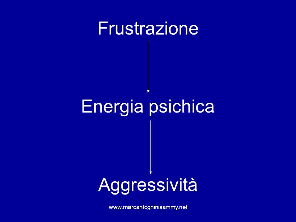 www.marcantogninisammy.net Frustrazione Energia psichica Aggressività