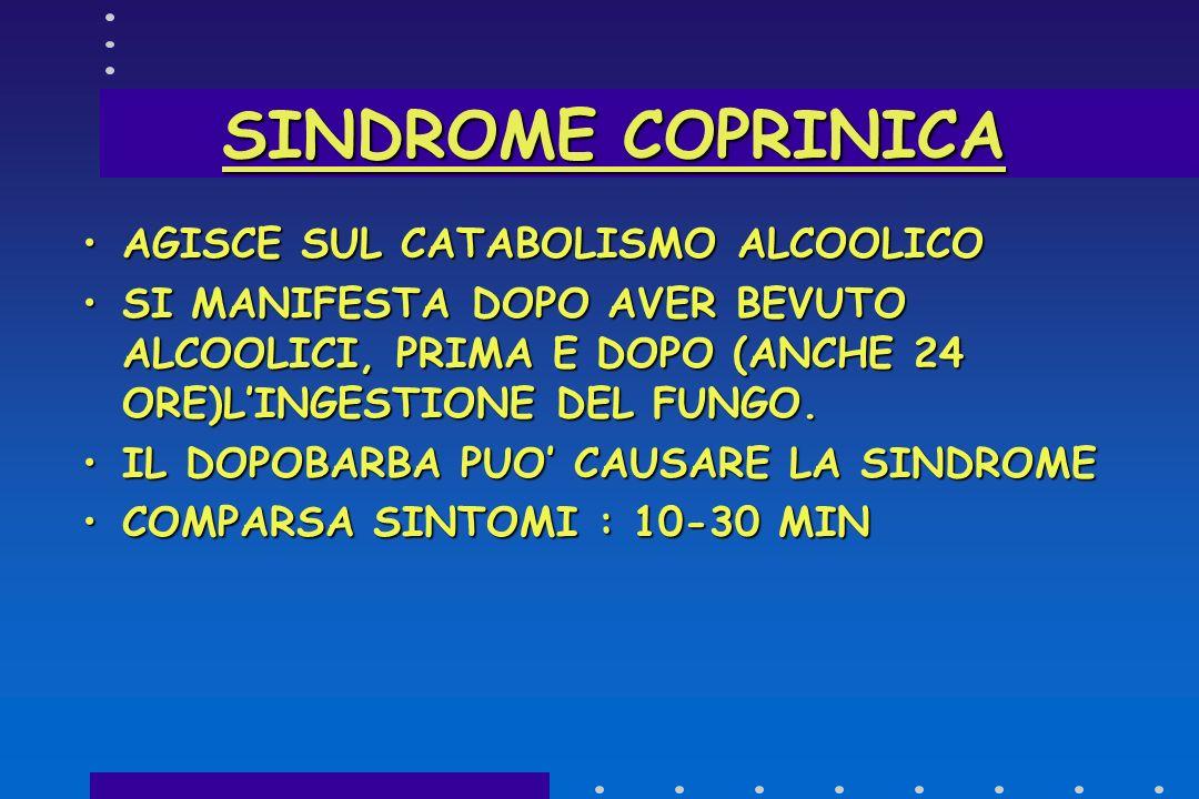 SINDROME NEUROTOSSICA. TERAPIA SVUOTAMENTO GASTRICOSVUOTAMENTO GASTRICO CARBONE MEDICINALECARBONE MEDICINALE DELIRIO:CLOROPROMAZINADELIRIO:CLOROPROMAZ
