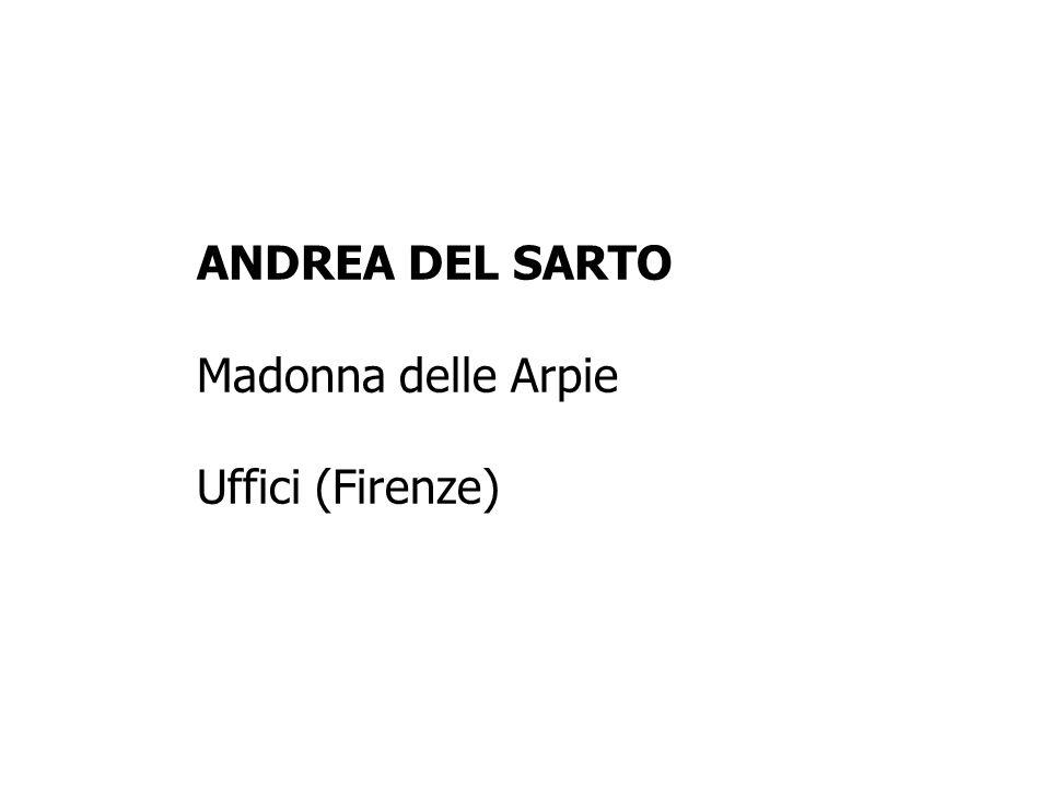ANDREA DEL SARTO Madonna delle Arpie Uffici (Firenze)