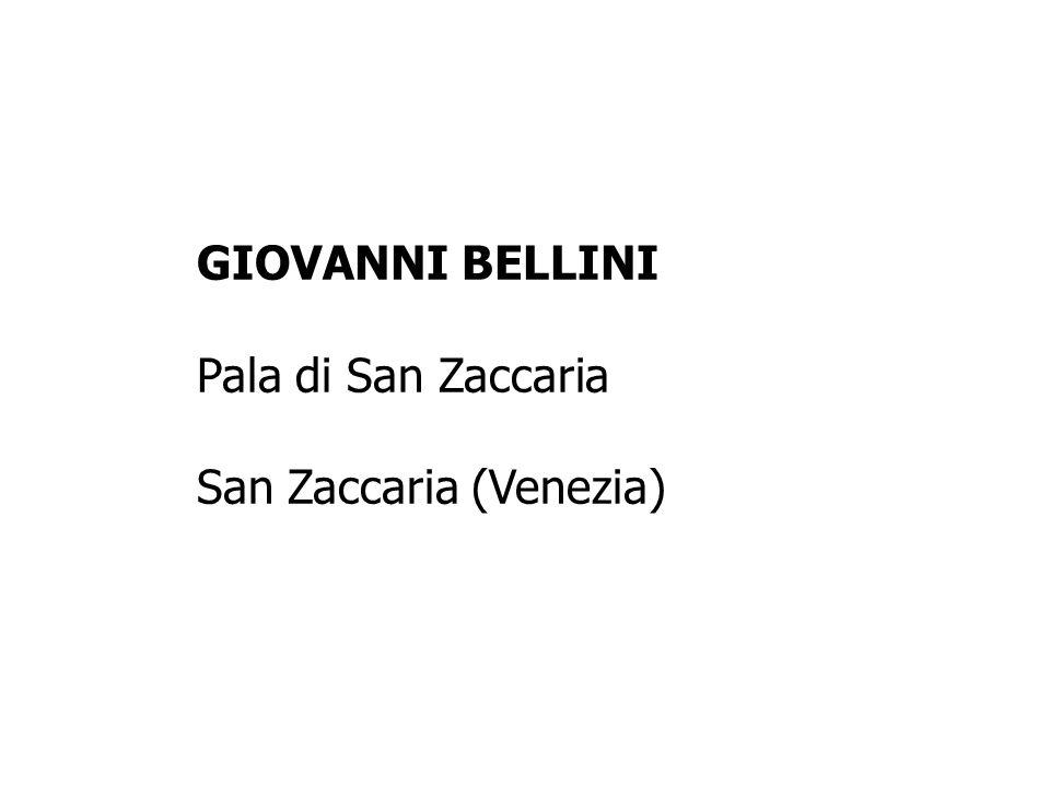 GIOVANNI BELLINI Pala di San Zaccaria San Zaccaria (Venezia)