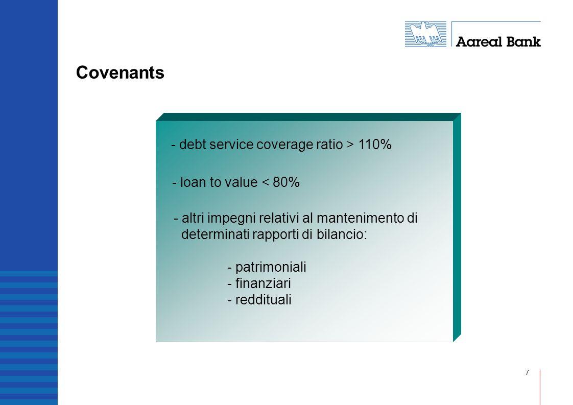8 Servizi accessori - syndication - securitisation - organizzazione di spin-off immobiliari - asseverazione di progetti immobiliari - consulenza immobiliare: - due diligence - analisi di mercato - valutazioni di immobili
