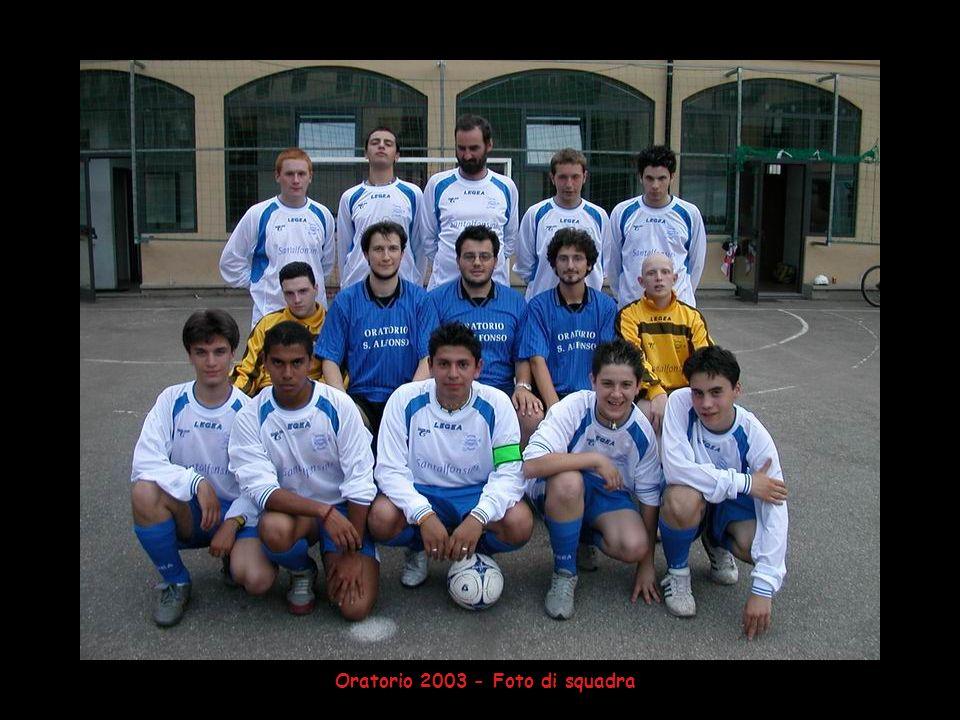 Oratorio 2003 - Foto di squadra