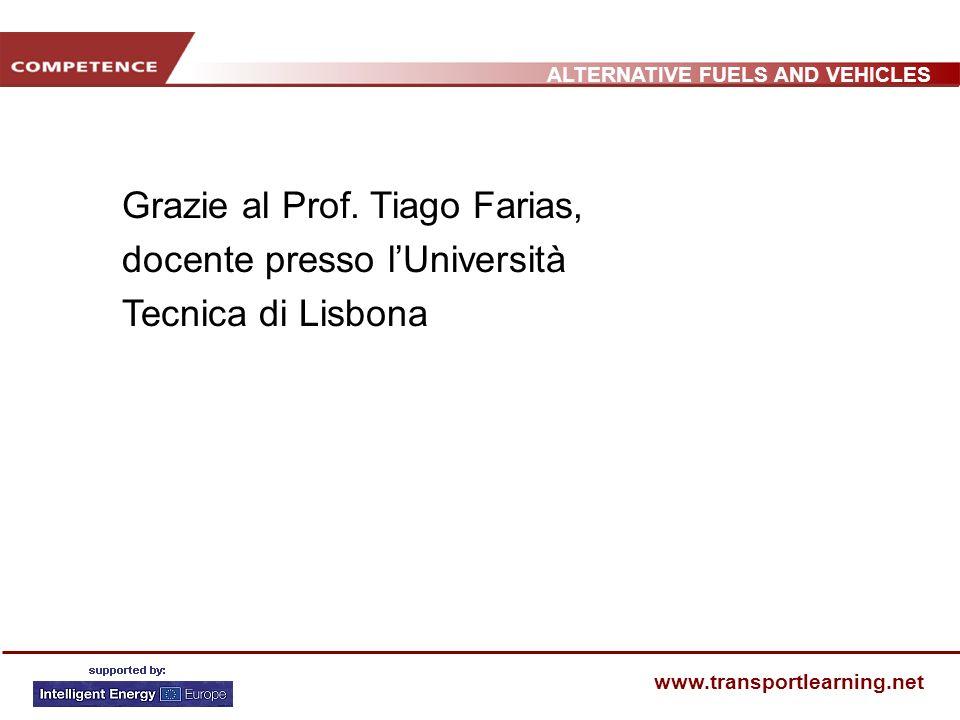 ALTERNATIVE FUELS AND VEHICLES www.transportlearning.net Grazie al Prof. Tiago Farias, docente presso lUniversità Tecnica di Lisbona