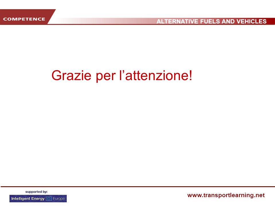 ALTERNATIVE FUELS AND VEHICLES www.transportlearning.net Grazie per lattenzione!