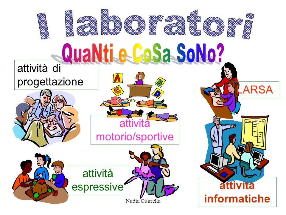 Nadia Citarella LARSA attività espressive attività di progettazione attività motorio/sportive attività informatiche