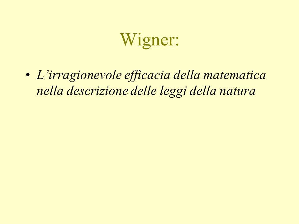 Wigner: Lirragionevole efficacia della matematica nella descrizione delle leggi della natura