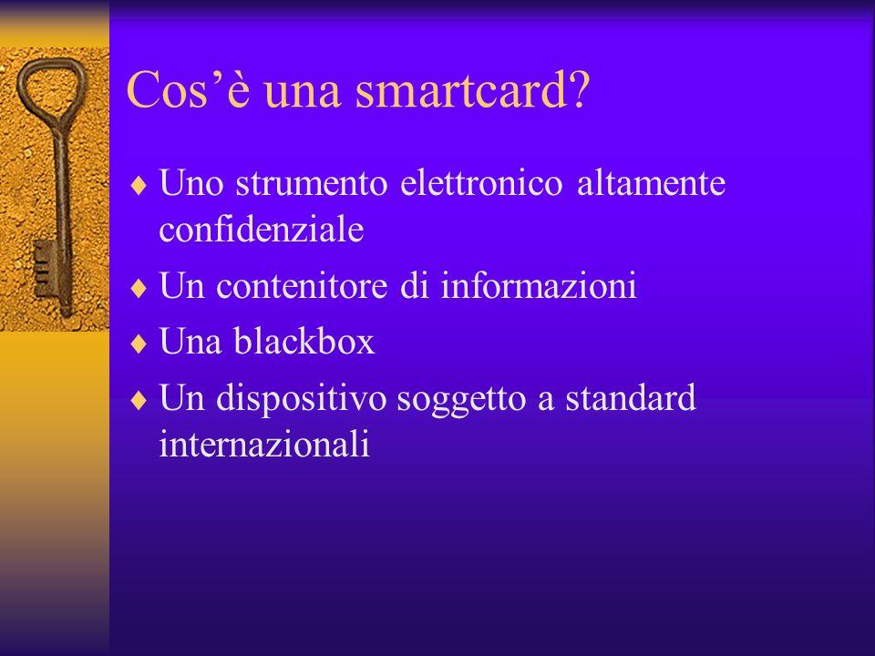 Cosè una smartcard.