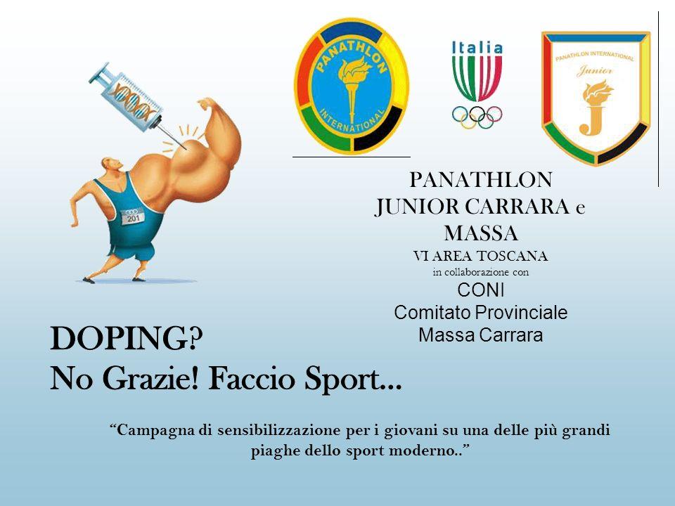 PANATHLON JUNIOR CARRARA e MASSA VI AREA TOSCANA in collaborazione con CONI Comitato Provinciale Massa Carrara Campagna di sensibilizzazione per i gio