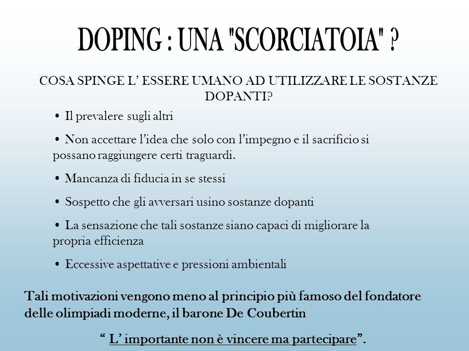 Convenzione contro il doping presentata dal consiglio d Europa a Strasburgo il 16 novembre del 1989.