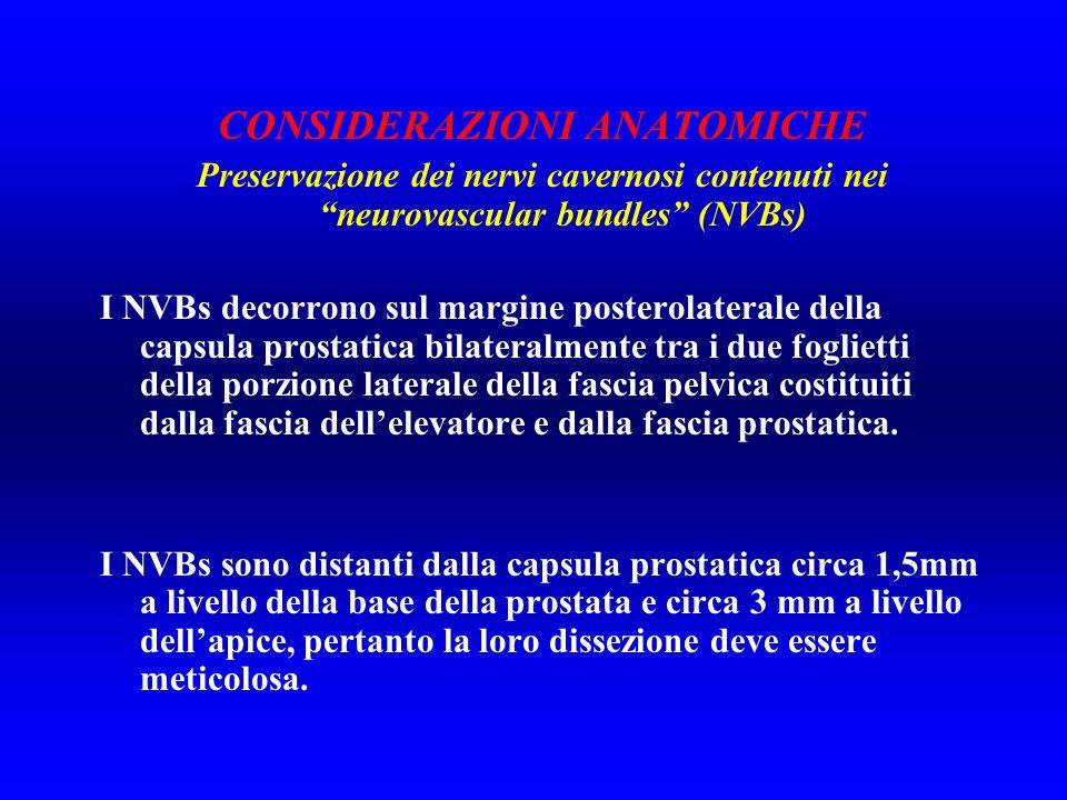 RELATIVE Difficoltà intraoperatoria di mobilizzazione dei NVBs E.R.