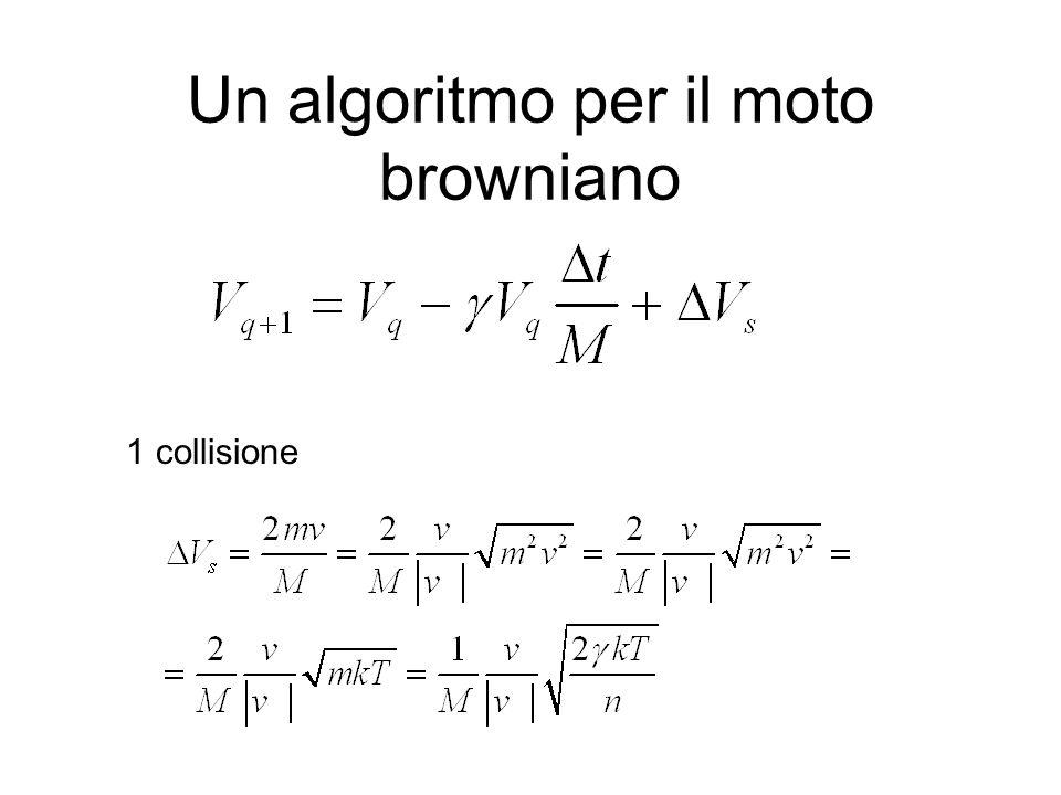 Un algoritmo per il moto browniano 1 collisione