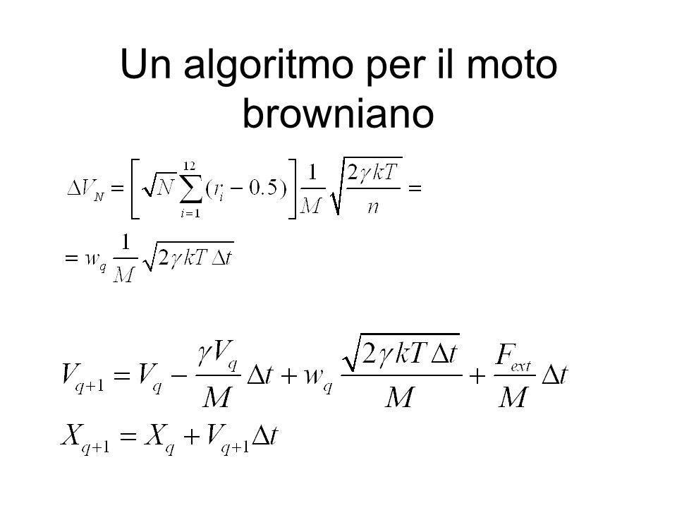 Un algoritmo per il moto browniano