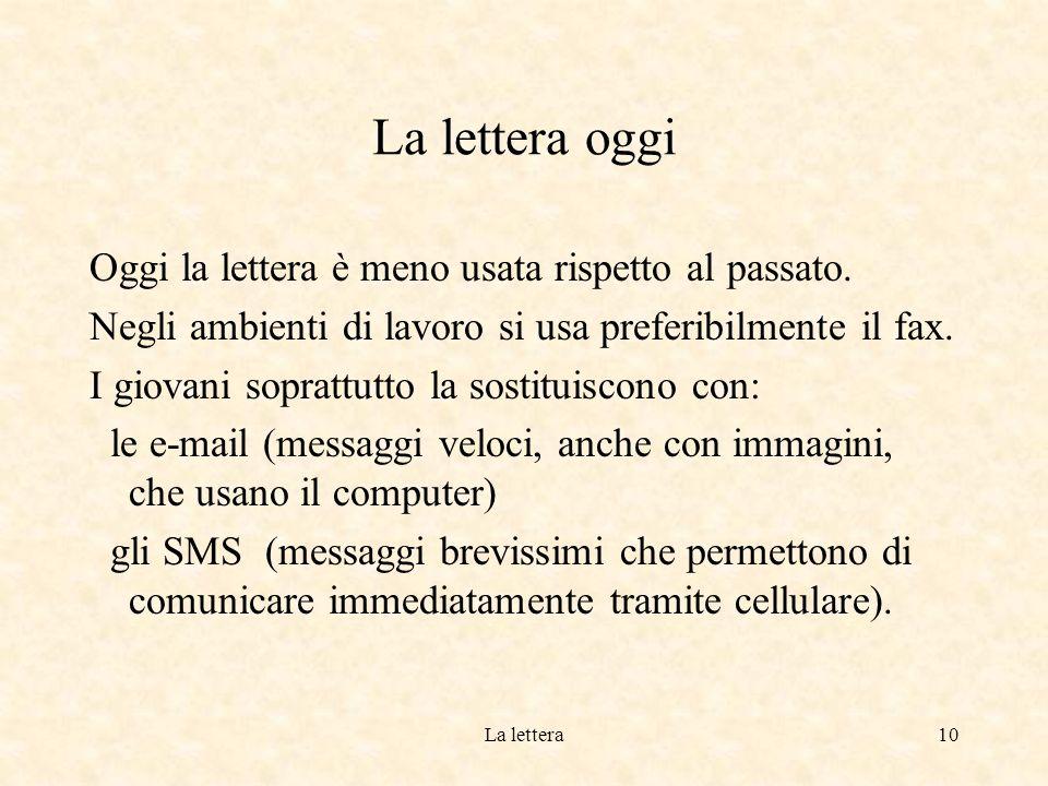 La lettera9 Come si scrive.