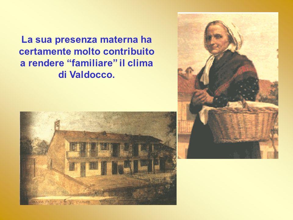 La sua presenza materna ha certamente molto contribuito a rendere familiare il clima di Valdocco.