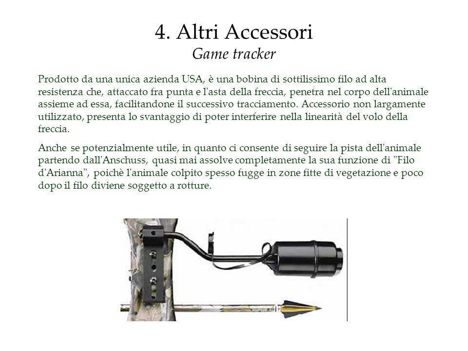 4. Altri Accessori Game tracker Prodotto da una unica azienda USA, è una bobina di sottilissimo filo ad alta resistenza che, attaccato fra punta e l'a