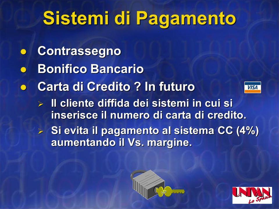 Sistema E-Commerce E-Cliente Internet PISAecom.univan.netVOI ordine E-MAIL SPEDIZIONE MERCE E FATTURAZIONE