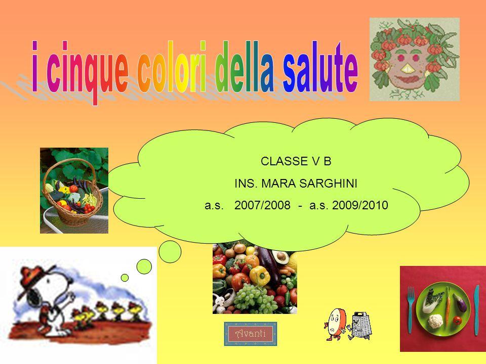 1 CLASSE V B INS. MARA SARGHINI a.s. 2007/2008 - a.s. 2009/2010