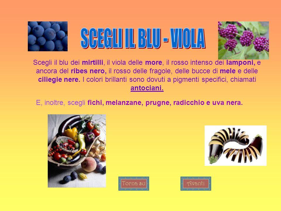 Scegli il blu dei mirtilli, il viola delle more, il rosso intenso dei lamponi, e ancora del ribes nero, il rosso delle fragole, delle bucce di mele e