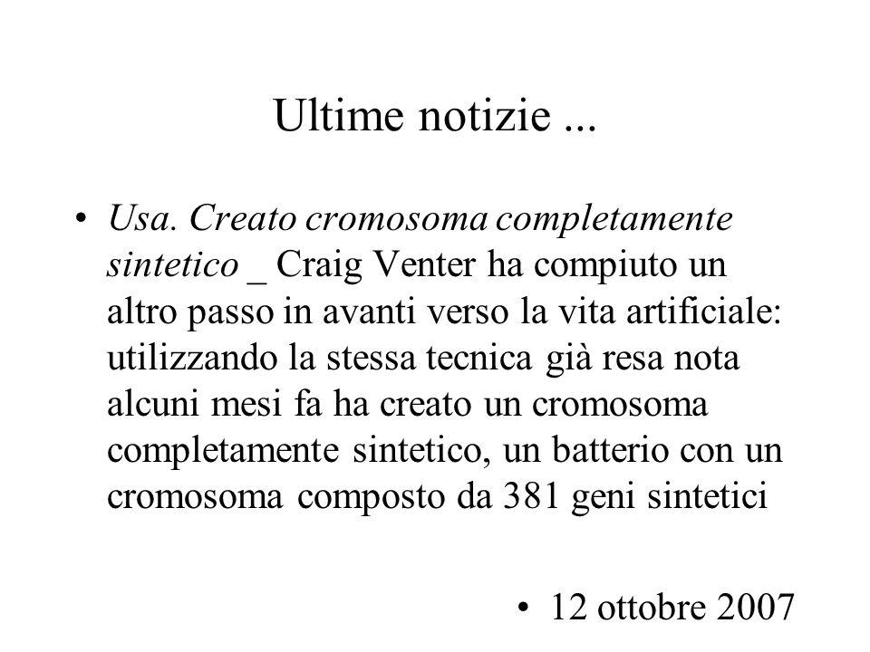 Convenzione di bioetica Dibattito pubblico su tali tematiche Protocollo del 12 gennaio 1998: divieto di clonazione di esseri umani Protocollo aggiuntivo del 18 luglio 2001 sulla ricerca biomedica