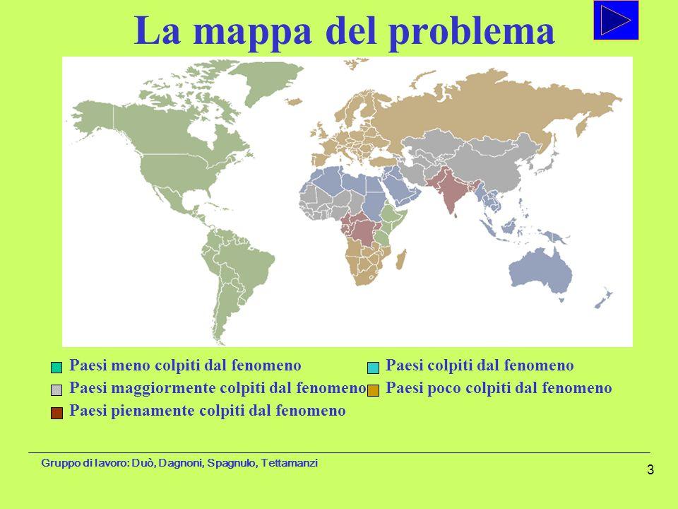 Gruppo di lavoro: Duò, Dagnoni, Spagnulo, Tettamanzi 3 Paesi meno colpiti dal fenomeno Paesi maggiormente colpiti dal fenomeno Paesi pienamente colpit