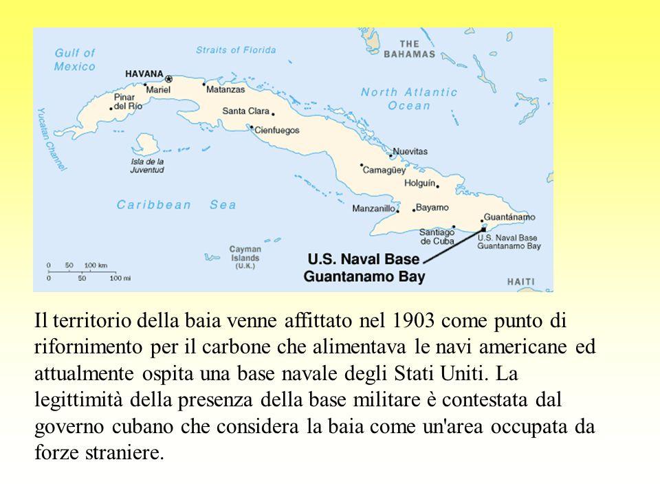 Il territorio della baia venne affittato nel 1903 come punto di rifornimento per il carbone che alimentava le navi americane ed attualmente ospita una