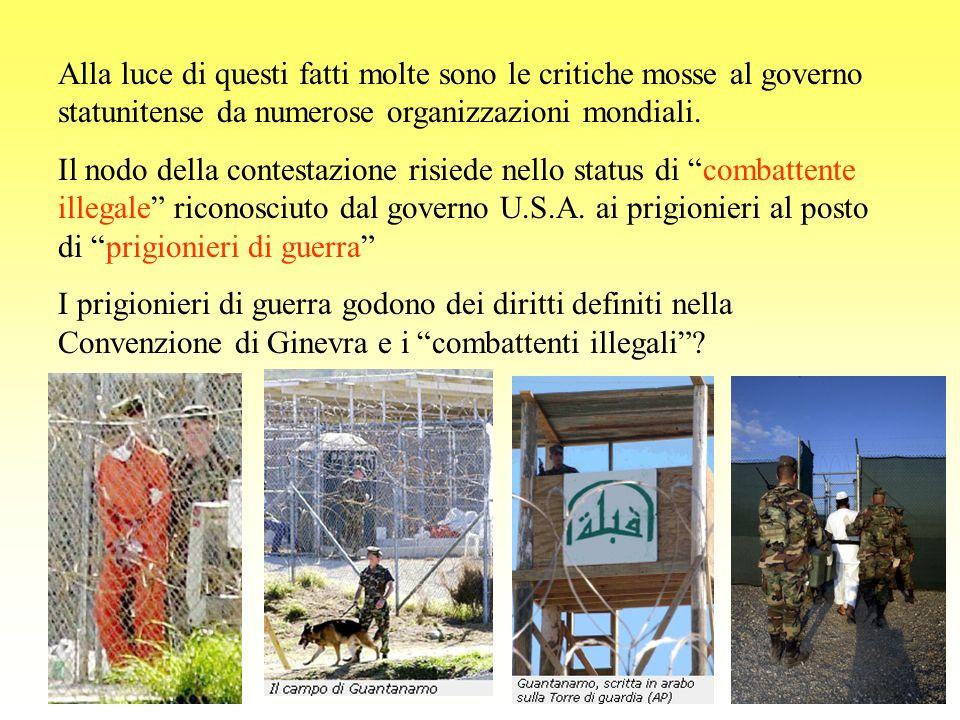 Fonti: http://www.corriere.it/Primo_Piano/Esteri/2004/11_Novembre/30/Guantanamo.shtml http://www.forumdelteatro.org/article.php3?id_article=197 http://it.wikipedia.org/wiki/Baia_di_Guantanamo http://news.bbc.co.uk/hi/english/static/in_depth/americas/2002/inside_camp_xray/default.stm http://www.repubblica.it/online/mondo/attaccodiciannove/zucconi/zucconi.html www.rainews24.it http://it.wikipedia.org/wiki/Guantanamo_Bay http://www.laurabogliolo.it/guantanamo.htm Altre ricerche effettuate con www.google.itwww.google.it La presentazione sarà prossimamente on-line al sito www.alternainsieme.net