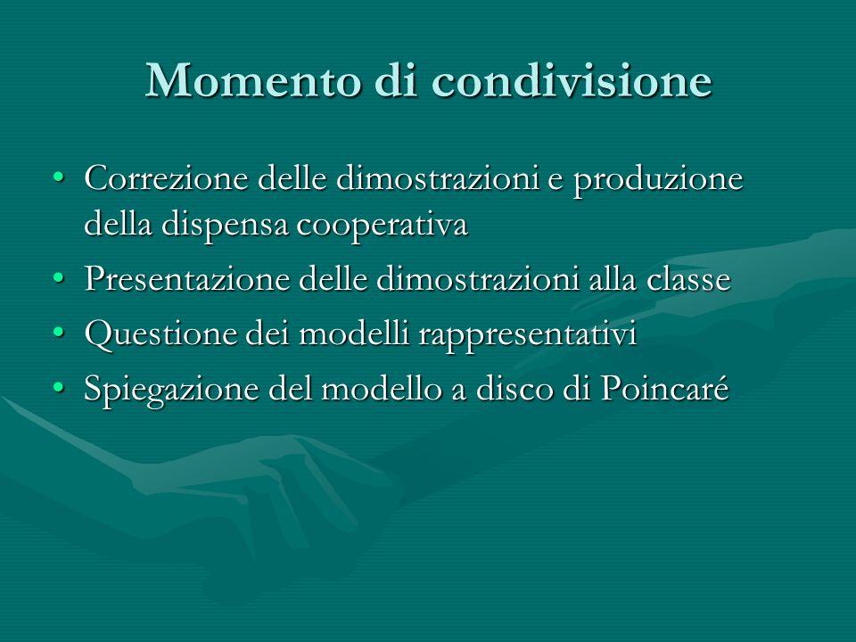 Momento di condivisione Correzione delle dimostrazioni e produzione della dispensa cooperativaCorrezione delle dimostrazioni e produzione della dispen