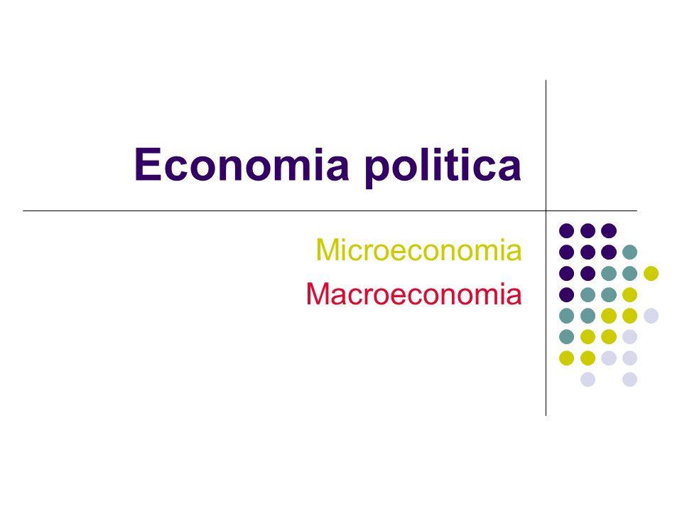 Economia politica Microeconomia Macroeconomia