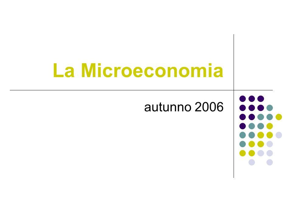 La Microeconomia autunno 2006
