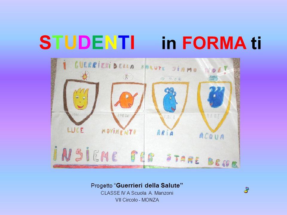 STUDENTI in FORMA ti Progetto Guerrieri della Salute CLASSE IV A Scuola A. Manzoni VII Circolo - MONZA