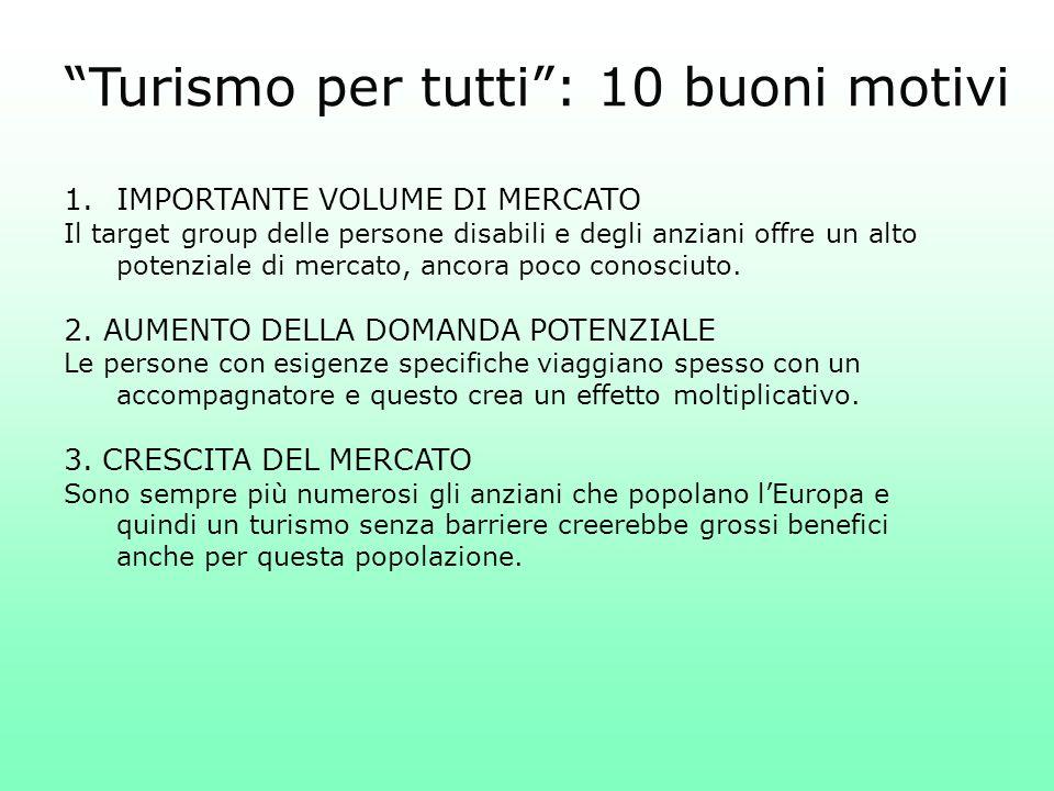1.IMPORTANTE VOLUME DI MERCATO Il target group delle persone disabili e degli anziani offre un alto potenziale di mercato, ancora poco conosciuto. 2.