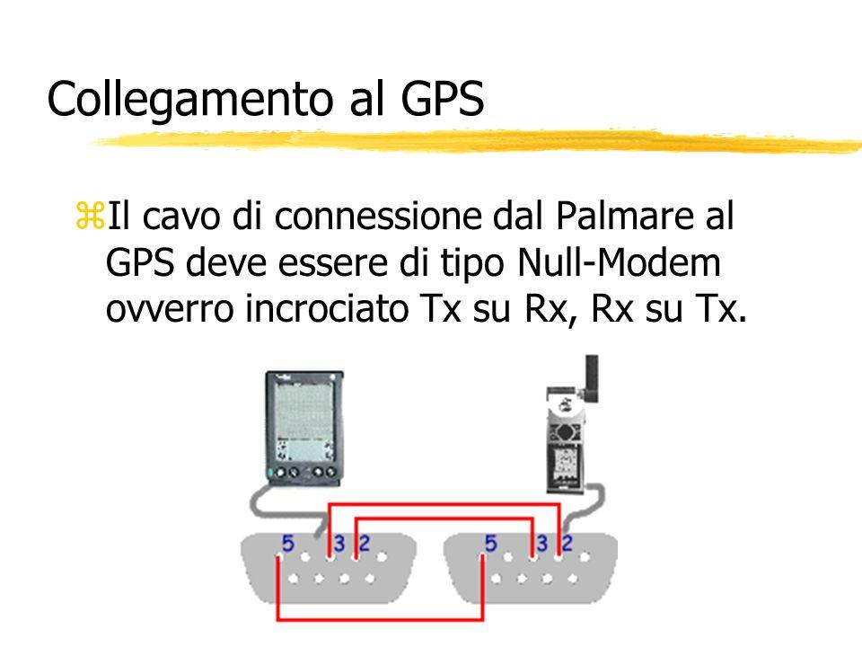 Collegamento al GPS zIl cavo di connessione dal Palmare al GPS deve essere di tipo Null-Modem ovverro incrociato Tx su Rx, Rx su Tx.