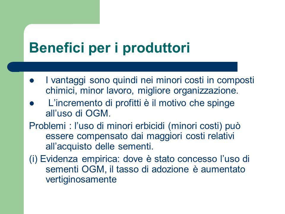 Benefici per i consumatori.