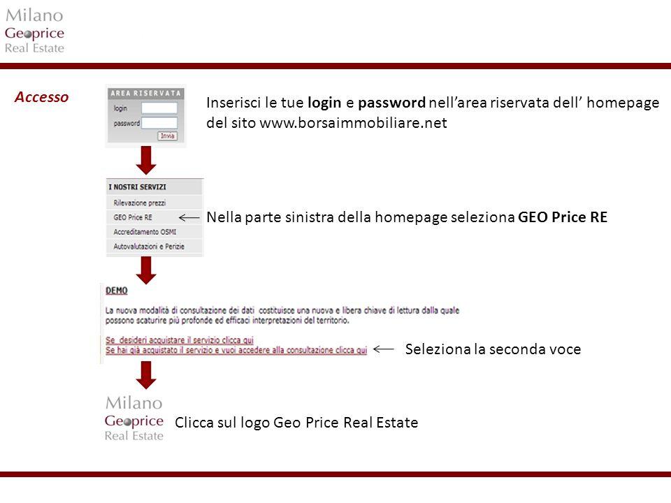 1/24 Inserisci le tue login e password nellarea riservata dell homepage del sito www.borsaimmobiliare.net Nella parte sinistra della homepage selezion