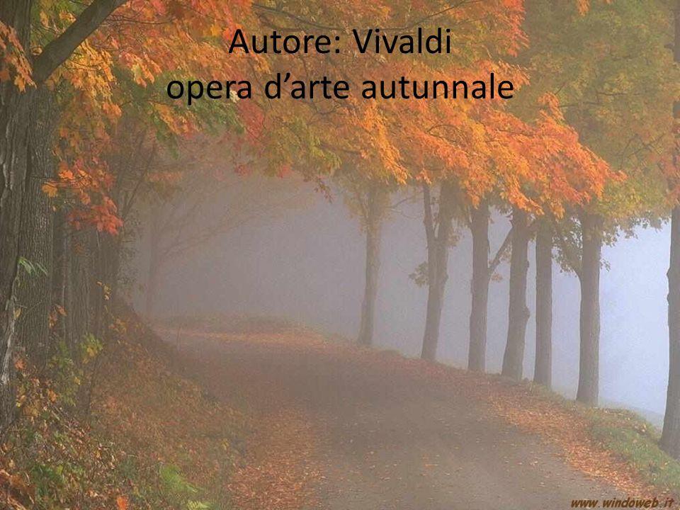 Autore: Vivaldi opera darte autunnale