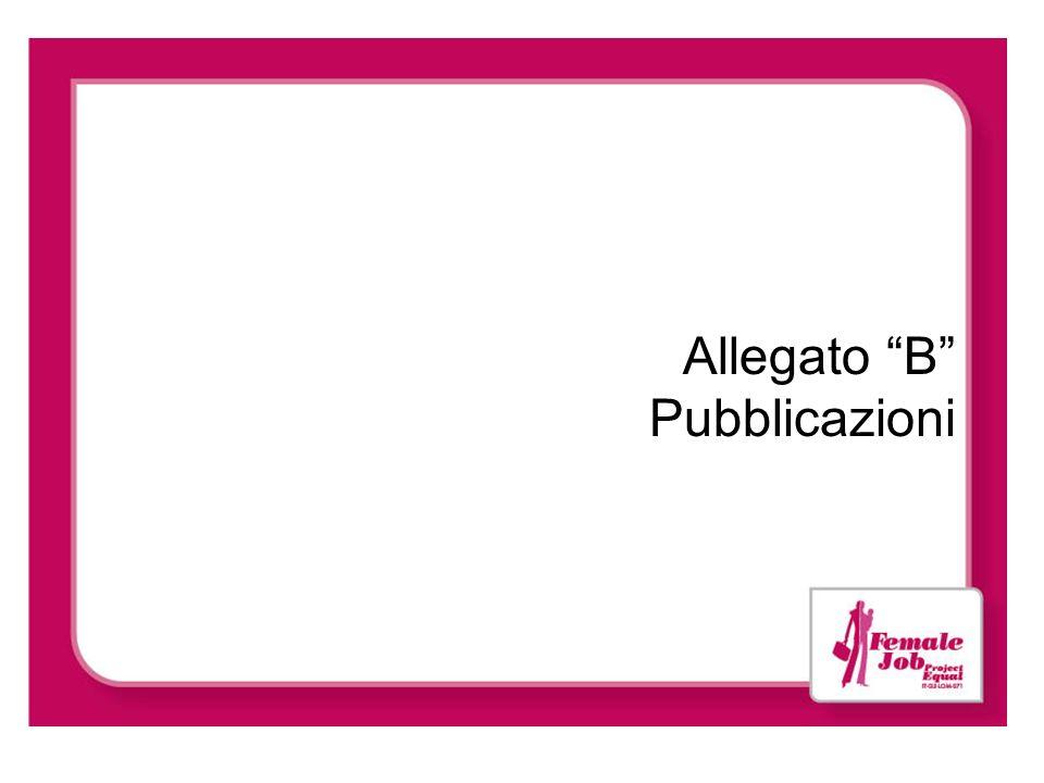 Allegato B Pubblicazioni