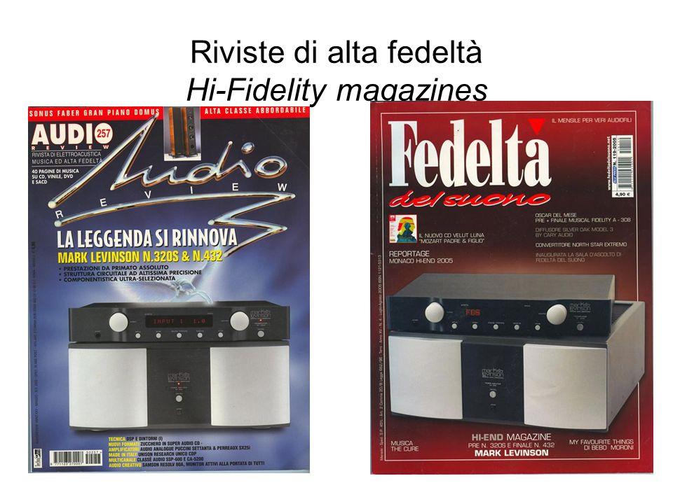Riviste di alta fedeltà Hi-Fidelity magazines