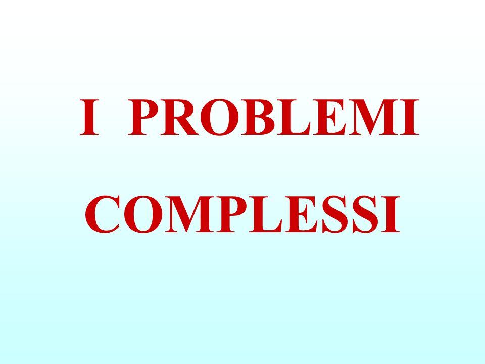 I PROBLEMI COMPLESSI