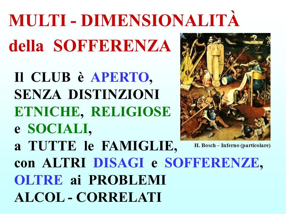 Il CLUB è APERTO, SENZA DISTINZIONI ETNICHE, RELIGIOSE e SOCIALI, a TUTTE le FAMIGLIE, con ALTRI DISAGI e SOFFERENZE, OLTRE ai PROBLEMI ALCOL - CORREL